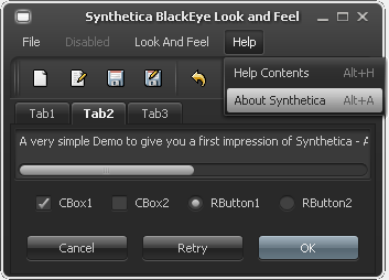 New Synthetica BlackEye Look and Feel